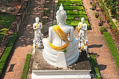 Temple of Ayuthaya, Thailand,
