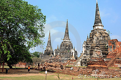 Temple of Ayutthaya,Thailand.