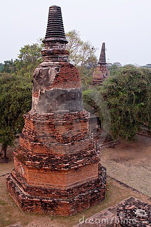 Temple of Ayutthaya, thailand