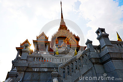 The temple in China town of Thailand