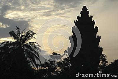 Temple at dawn