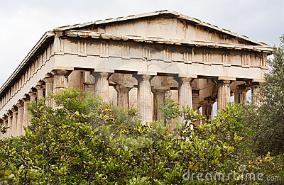 Temple de Hephaistos en agora antique, Athènes