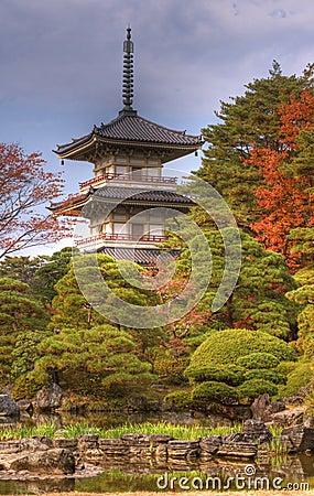 Temple de rinoji de pagoda