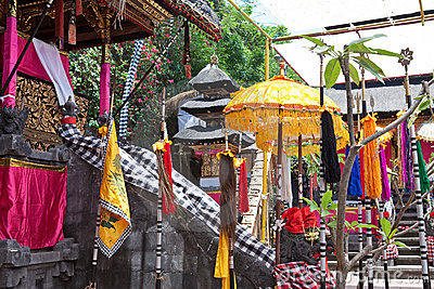 Temple, decorated to holiday. Indonesia,Bali.