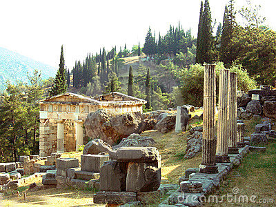 Temple of Delphi in Greece