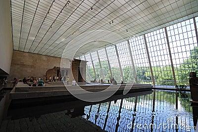 Temple of Dendur in Metropolitan Museum of Art Editorial Stock Photo