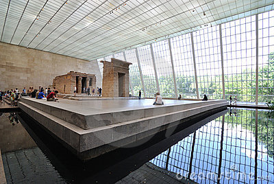 Temple of Dendur in Metropolitan Museum of Art Editorial Photography