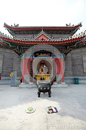 Free Temple For The God Of Wealth Royalty Free Stock Photo - 39412975