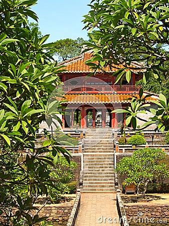 Temple in the garden