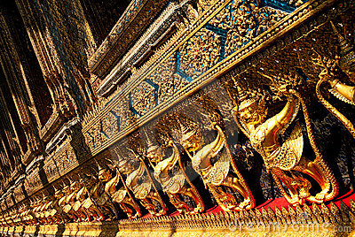 Temple in grand palace bangkok thailand