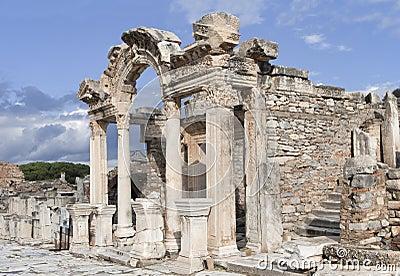 The temple of Hadrian, Ephesos, Turkey