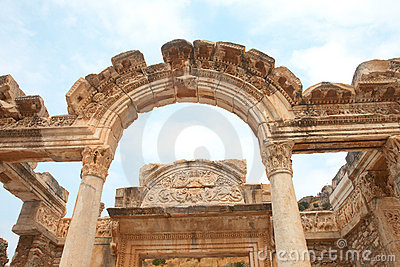 Temple of Hadrian in Ephesus, Turkey
