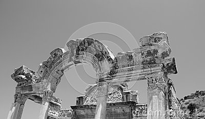 Temple of Hadrian, Ephesus, Turkey,