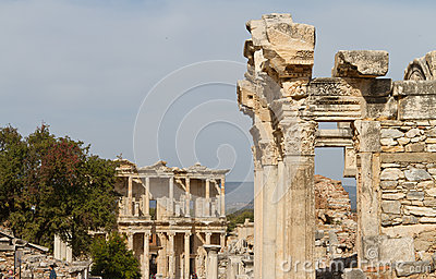 Temple of Hadrian and Library of Celsus