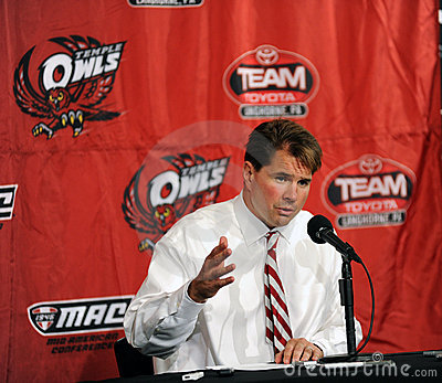 Temple head football coach Al Golden Editorial Stock Photo