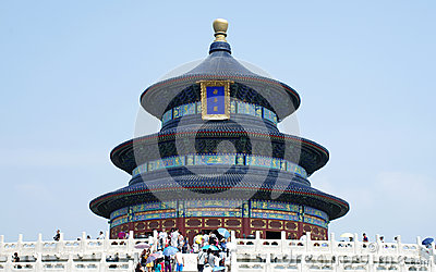 Temple of Heaven in Beijing, China Editorial Image