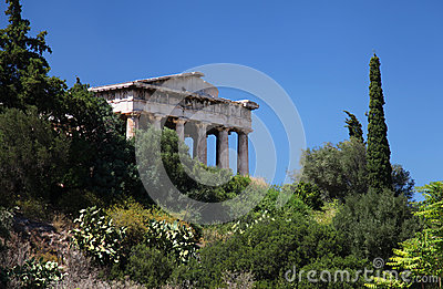 The temple of Hephaestus in Greece