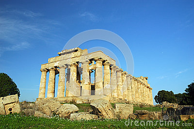 The Temple of Hera, at Selinunte