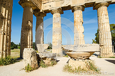 The Temple of Hera (Temple E) at Selinunte, Sicily