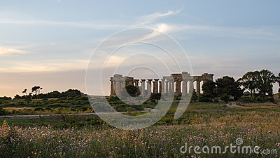 The Temple of Hera (Temple E) at Selinunte, Sicily