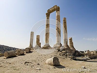Temple of Hercules in Amman Ci
