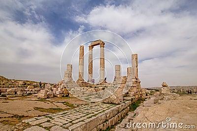 Temple of Hercules in Amman, Jordan Editorial Stock Photo