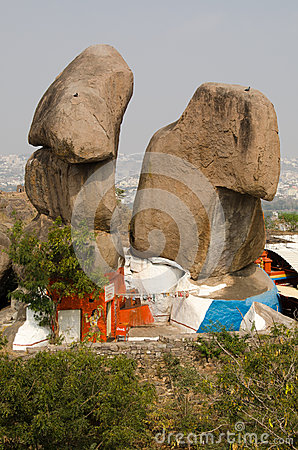Temple hindou, fort de Golkonda