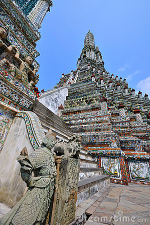 Free Temple In Bangkok Wat Arun, Thailand. Royalty Free Stock Photography - 18505317