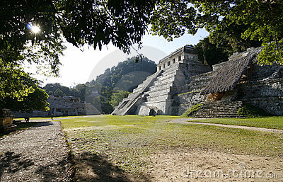 Temple of the Inscriptions. Mayan ruins, Mexico