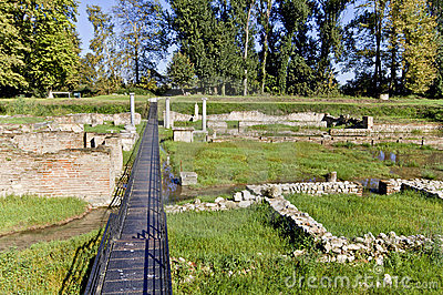 Temple of Isis at ancient Dion in Greece