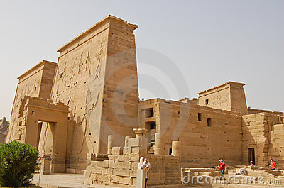 Temple of Isis in Philae, Egypt Editorial Stock Image