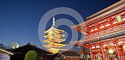 Temple in Japan, Sensoji complex