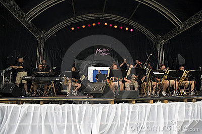 Temple Jazz Orchestra at Montreux Editorial Photography
