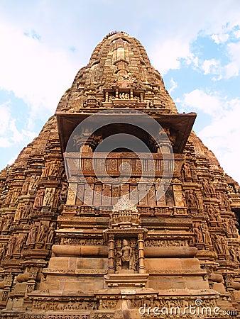 Temple in Khajuraho. Madhya Pradesh