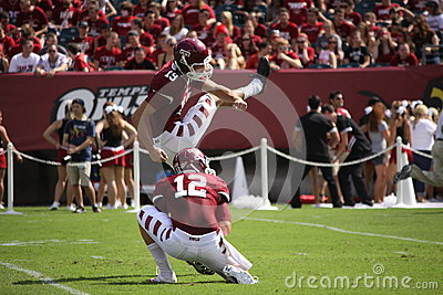 Temple kicker Brandon McManus Editorial Stock Image