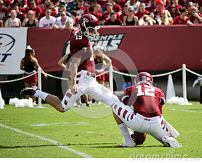 Temple kicker Brandon McManus kicks Editorial Image
