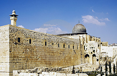 Temple Mount Southern and Western Wailing Wall