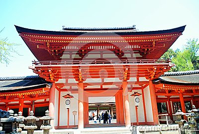 Temple in Nara, Japan Editorial Photography
