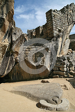 Free Temple Of Condor In Machu Picchu, Peru Royalty Free Stock Images - 27860989