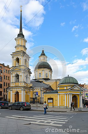 Free Temple Of Holy Righteous Simeon The God-Bearer And Anna The Prophetess Simeonovskaya Church, St. Petersburg, Russia Royalty Free Stock Image - 103073256