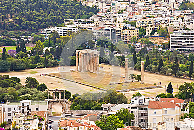 Temple olympien de Zeus, Athènes
