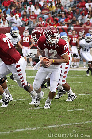 Temple Quarterback #12 Vaughn Charlton Editorial Image