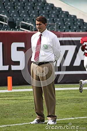 Temple Quarterback Coach Al Golden Editorial Image