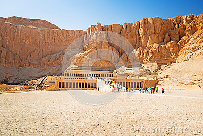 Temple of Queen Hatshepsut in Egypt Editorial Photography