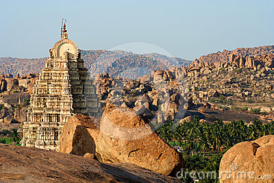 Temple among rocks