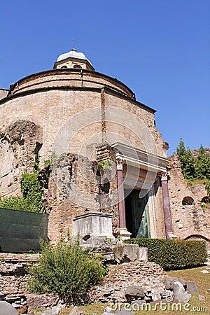 Temple of Romulus, Ancient Rome Ruin