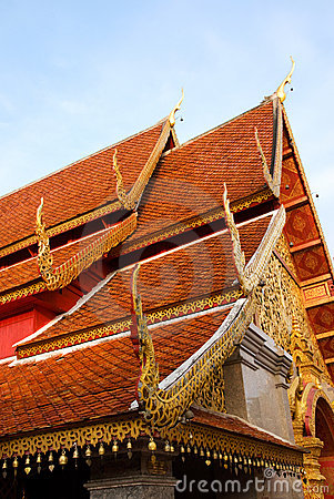 Temple roofs of Wat Phrathat Doi Suthep