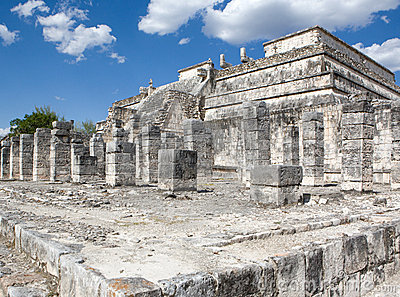 Temple ruins in Chichen Itza.