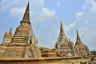 Temple Ruins, Ayutthaya Editorial Photo