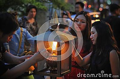Temple Scene Editorial Photo